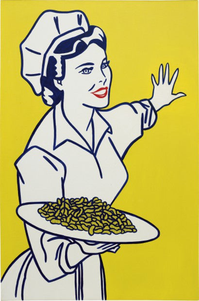 Roy Lichtenstein Woman with Peanuts