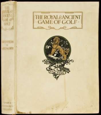 Royal & Ancient Golf rare book
