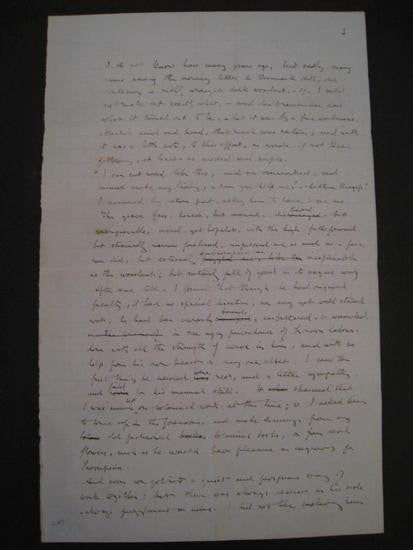Handwritten article by John Ruskin