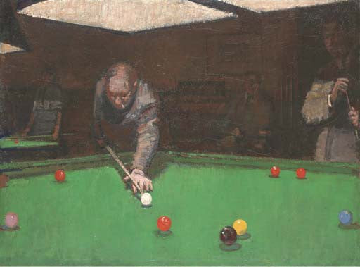 Ruskin Spear Snooker painting
