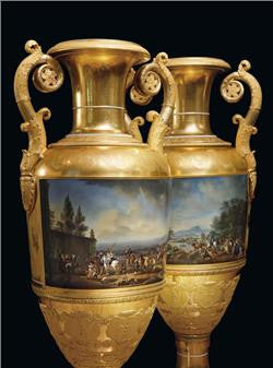 Russian Imperial Porcelain Factory vases
