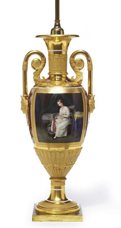 Russian Imperial Porcelain Urn