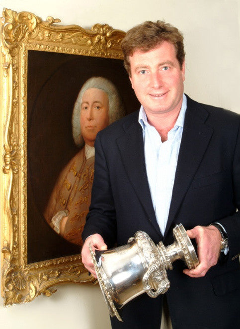 Stephan Ludwig with a Gainsborough and piece of silverware