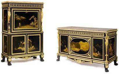 Safra Japanese lacquer commode