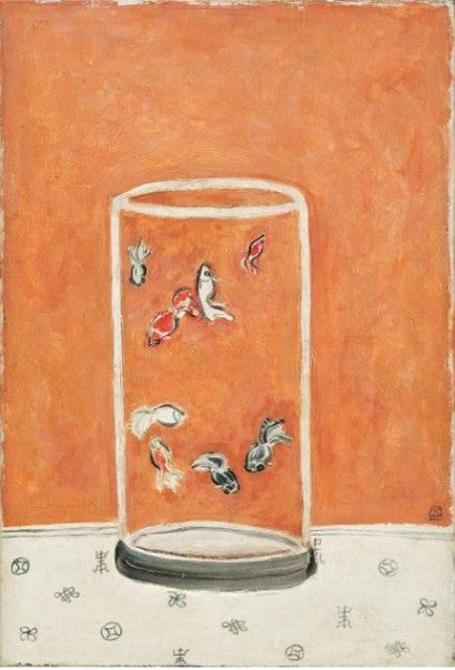 Sanyu Goldfish painting