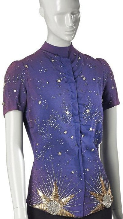 Schiaparelli Lesage Astrologie collection blouse