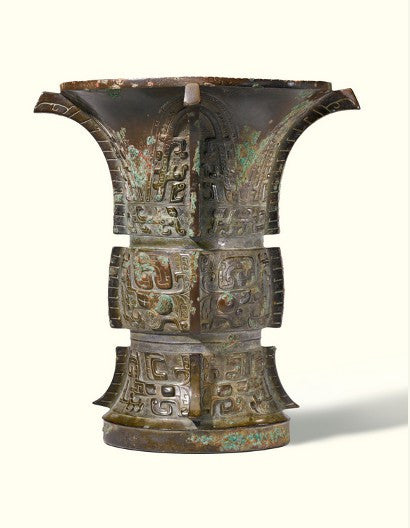 Shang dynasty archaic bronze vessel