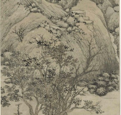 Shen Zhou scroll paintings Mountain ni Autumn