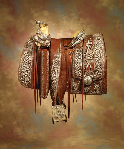 Silver laden Pancho Villa saddle