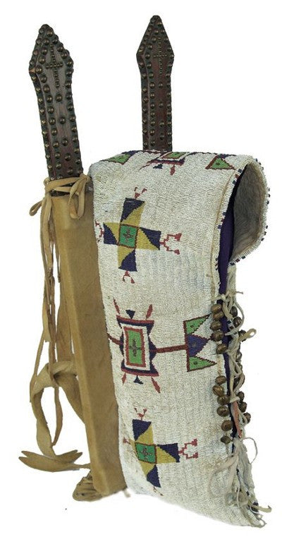 Sioux beaded cradleboards