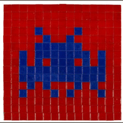 Space Invader mosaic auction