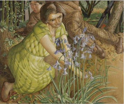 Stanley Spencer's Hilda with Bluebells painting