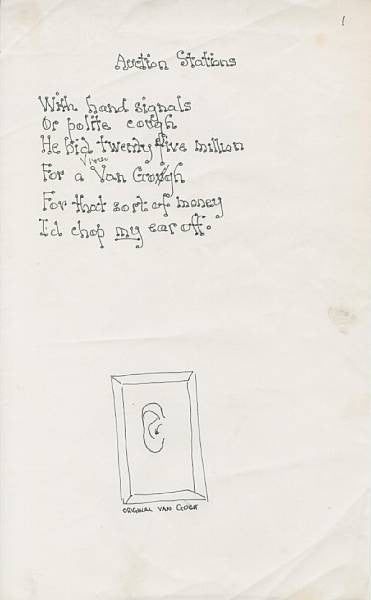 Spike Milligan poem Auction Stations