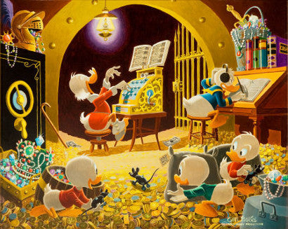 Spoiling the concert painting (Scrooge McDuck and Donald Duck) by Carl Barks