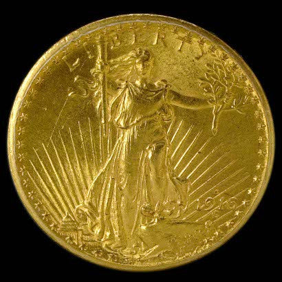 St Gaudens coin flown with Neil Armstrong