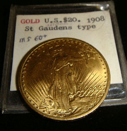 St Gaudens gold coin 1908 MS60
