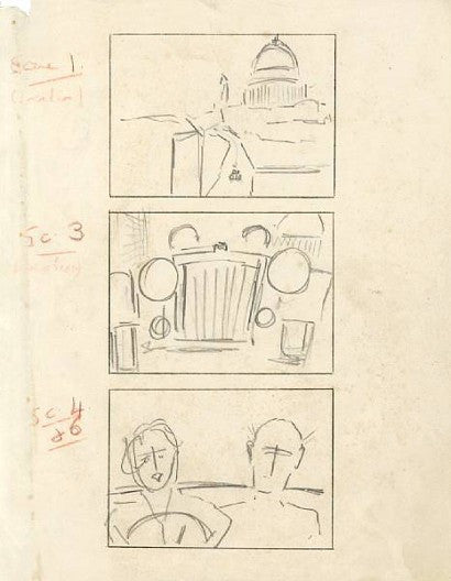 Stage Fright Storyboard by Alfred Hitchcock