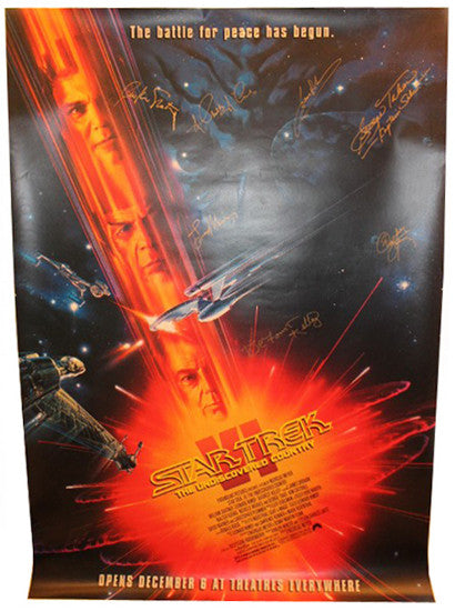 Star Trek VI poster Undiscovered Country signed Shatner Nimoy