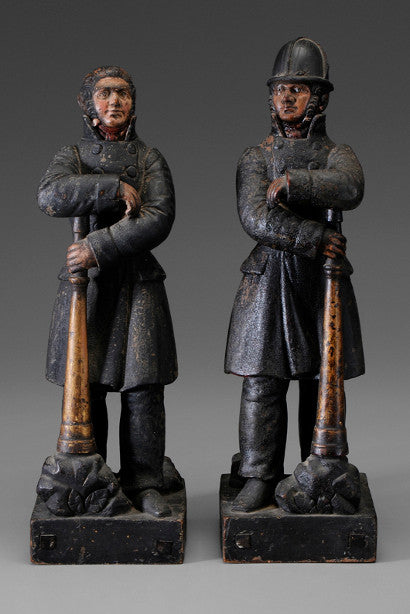 Streetfighting firefighter antique