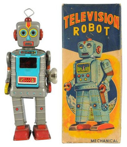 Television Robot tin toy