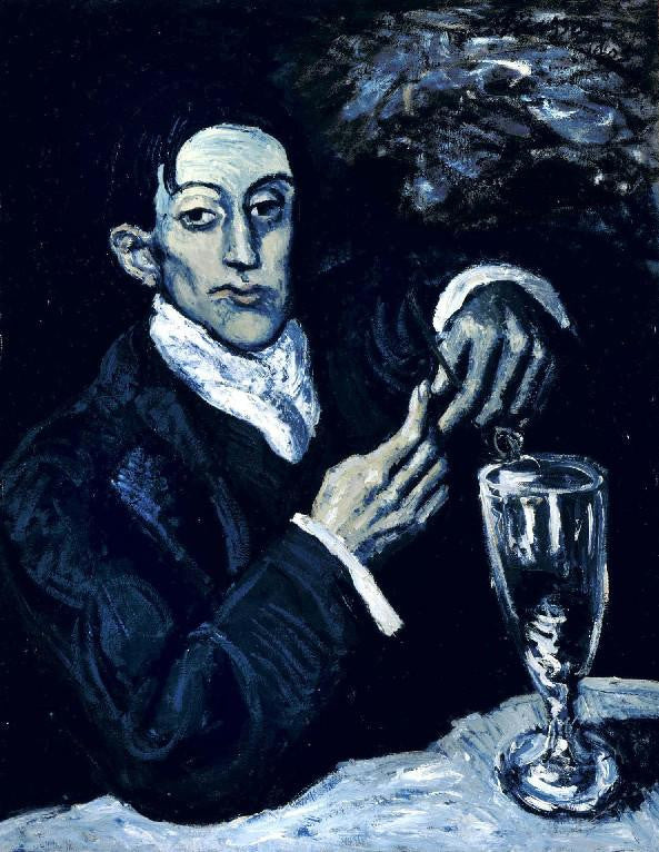 Pablo Picasso's painting The Absinthe Drinker