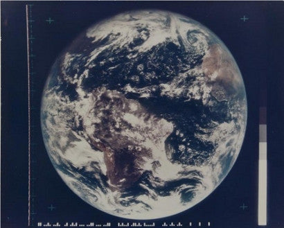 The first colour photograph of the entire disc of the Earth ATS-III satellite