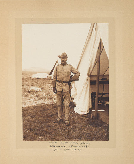 Theodore Teddy Roosevelt photograph signed autograph