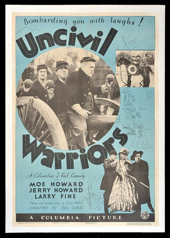 Three Stooges poster Uncivil Warriors