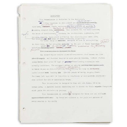 Timothy Leary Unpublished Manuscript
