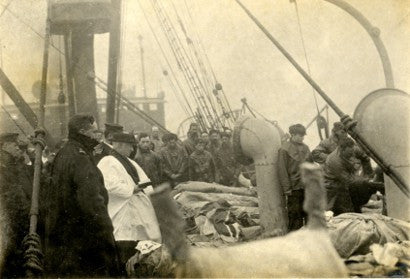 Titanic Sea Burial photograph
