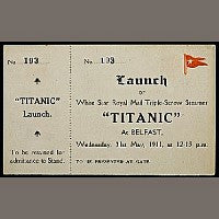 Bonhams Titanic Ticket