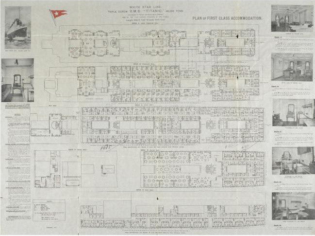 Titanic first class deck plan