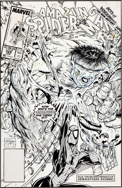 Todd McFarlane Amazing Spider-Man cover art #328 world record
