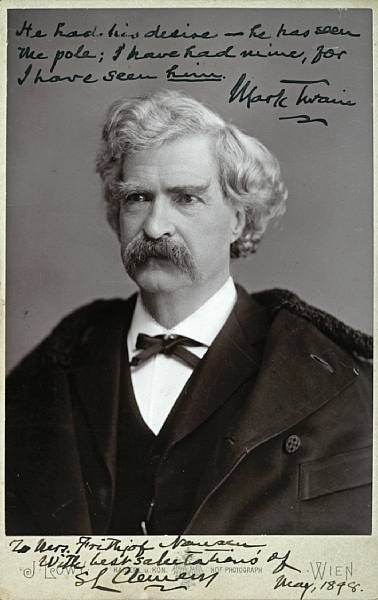 Mark Twain Clemens Signed Photo