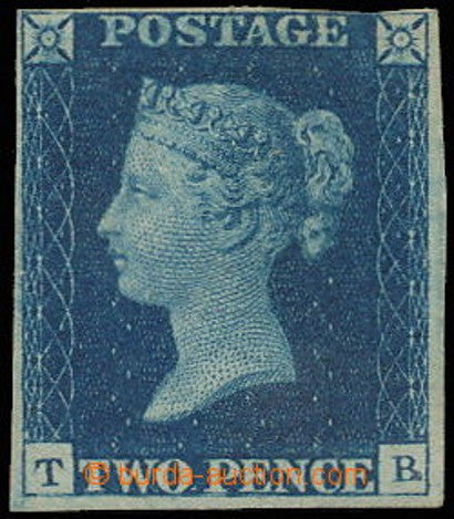 1840 Great Britain two pence blue