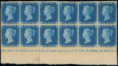 Twopenny Blue Plate I block 12 Chartwell