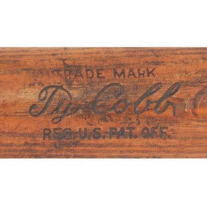Ty Cobb game used baseball bat