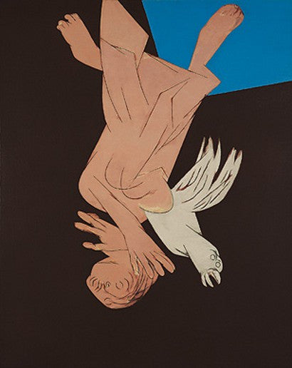 Tyeb Mehta Falling Figure with Bird