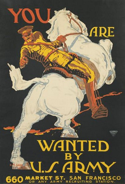 You are wanted US Army recruitment poster