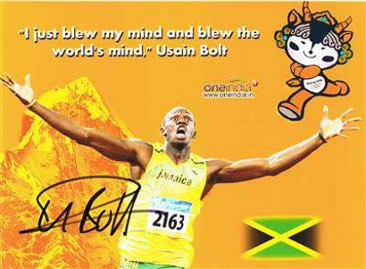 Usain Bolt signed photograph