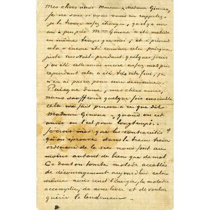 Vincent van Gogh handwritten letter auction