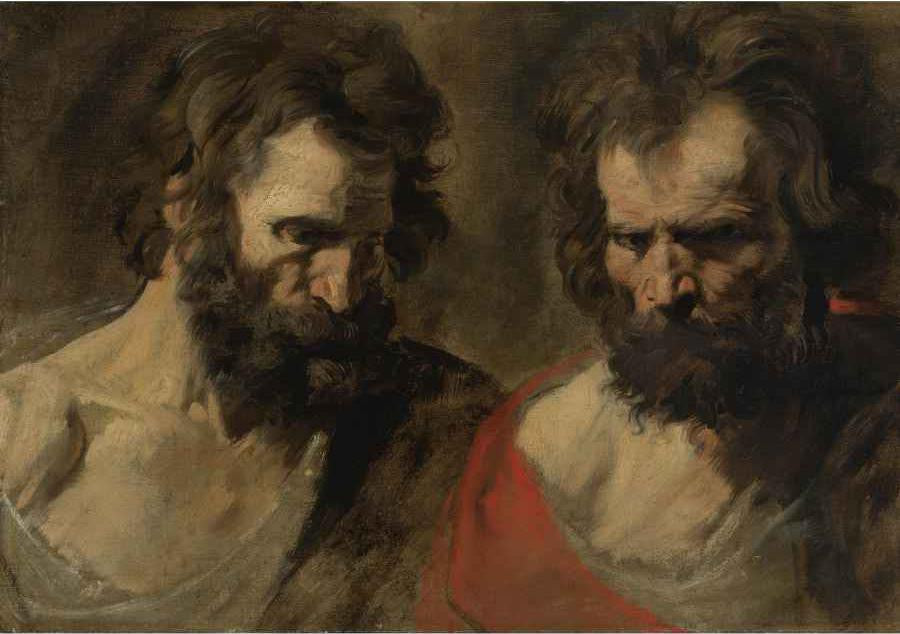 Van Dyck Two Studies of a Bearded Man