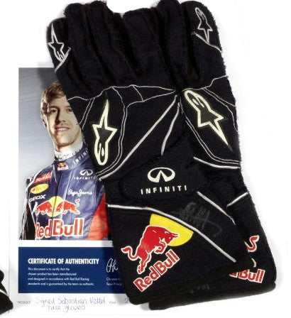Sebastian Vettel Signed Gloves