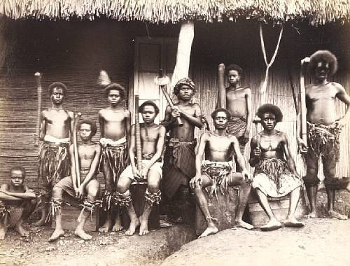 Photograph from rare book A Trip to the Highlands of Viti Levu