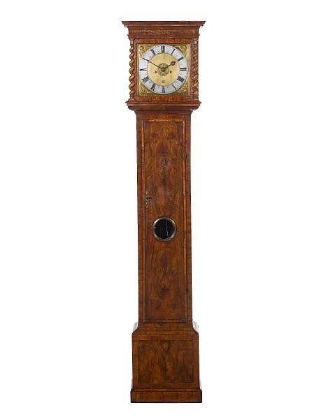 Walnut wall clock by Joseph Knibb Iden collection