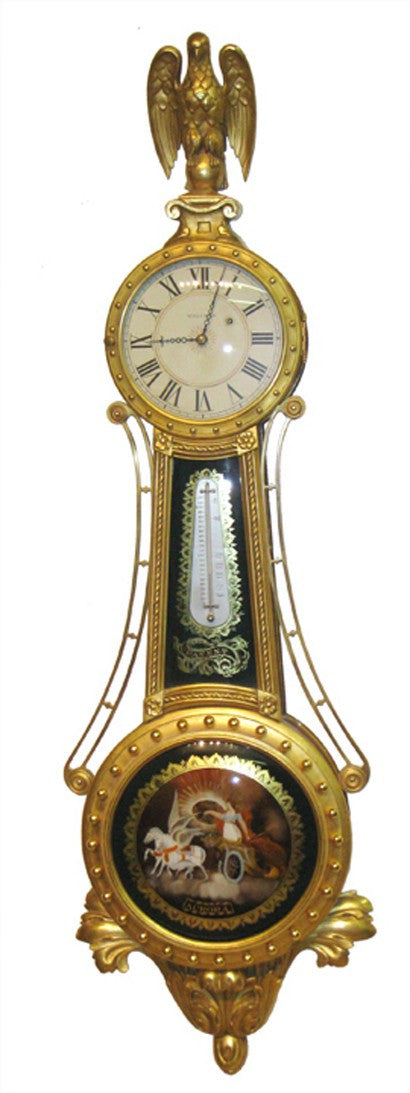 Waltham girandole ornate banjo clock serial No 1