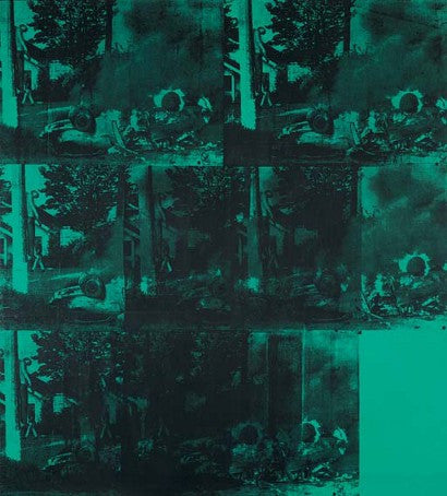 Andy Warhol Green Car Crash (Green Burning Car I)