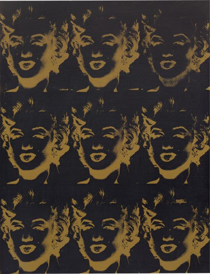 Andy Warhol Nine Gold Marilyns