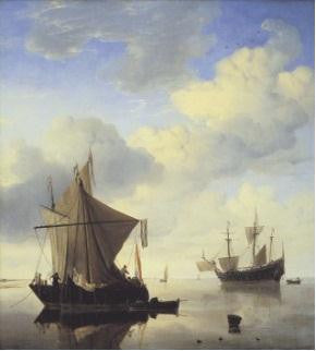 Willem van de Velde II's Shipping in a Calm
