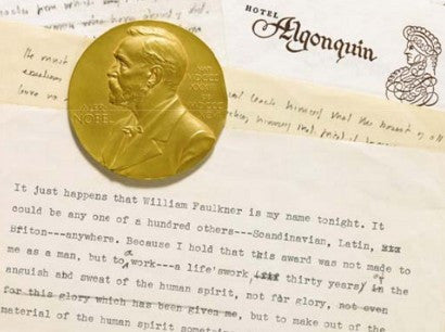 William Faulkner manuscript auction